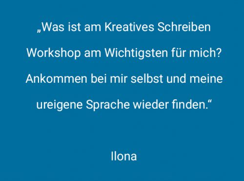 Workshop-Themen der Schreibwerkstatt
